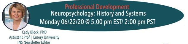 Neuropsychology: History and systems with Dr. Cady Block