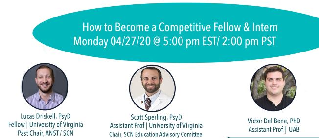 How to be a competitive fellow and intern with Dr. Lucas Driskell, Dr. Scott Sperling, and Dr. Victor Del Bene
