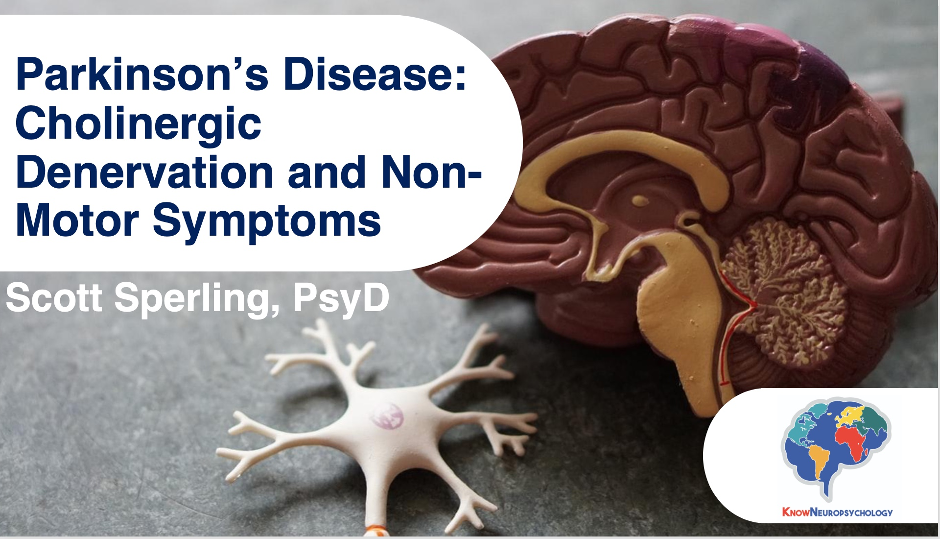 Parkinson's Disease - cholinergic denervation and non-motor symptoms lecture recording