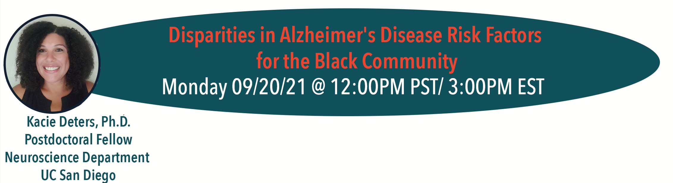 Disparities in Alzheimer's Disease Risk factors for the Black Community with Dr. Kacie Deters